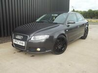 2007 (57) Audi A4 2.0 TDI S Line 4dr Sat Nav Rs4 Style Wheels 2 Keys Service Hist Diesel May Px