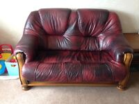 Leather 3 piece sofa. Very good condition.