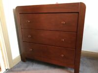 Nursery Furniture-Cot/Bed, With Matching Wardrobe & Changing Dresser