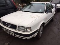1993 Audi 80 E Auto 4 dr saloon 2l petrol white BREAKING FOR SPARES