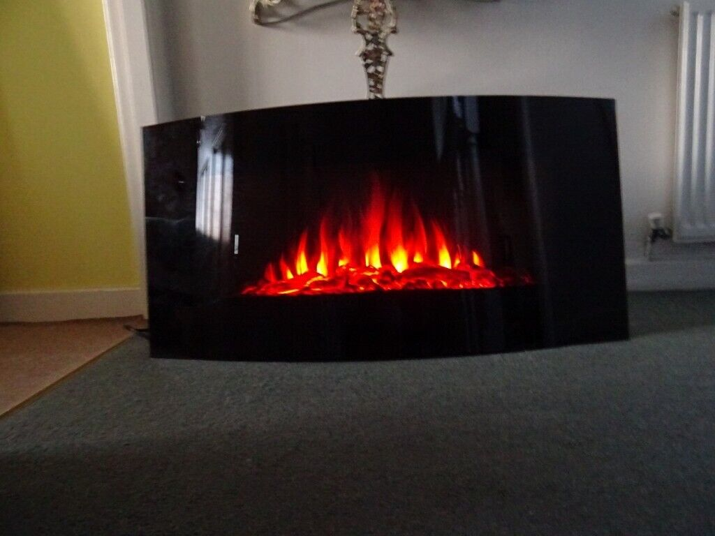 Log effect wall fire with mobile control | in Ince, Manchester | Gumtree