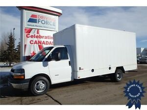 2014 Chevrolet Express 16 Ft Cube Van - 51,719 KMs, 6.6L Diesel
