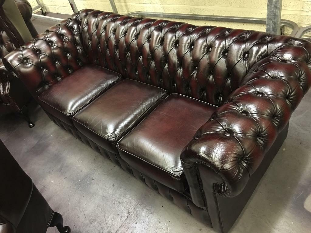 Living Room Furniture Belfast Original Vintage Chesterfield Suite Professionally Restored