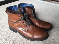 DUNE brown leather boots size 8UK 42EU