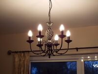 wrought iron 6 light