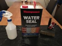 5 Litres Thomson Water Seal-Spray and brush included to apply (ALL NEW)