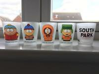 1998 South Park shot glasses