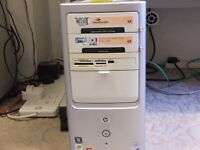 Computer, old HP with dual core motherboard and windows 7/64 installed, plus certified disc.