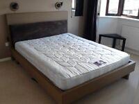 IKEA KING SIZE BED 5FT, MATTRESS & PLINTH