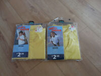 GEORGE (Asda) YELLOW POLO SHIRT for GIRLS TWINPACK x2 BRAND NEW great for summer in school! Age 5-6