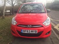 HYUNDAI i10 RED 2014 CLASSIC CAT C ONE YEAR MOT LOW MILES 5000 IMMACULATE CONDITION