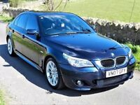 *3 MONTHS WARRANTY*! (2007) BMW 525D M SPORT AUTO - 5 SERIES - E60 - FULLY LOADED - 12 MONTHS MOT