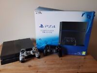 Playstation 4 1TB with 16 games and extra camouflage wireless controller