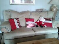 3 seater sofa and chair