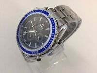New Omega Sea Master Co-Axial Automatic watch with blue bezel