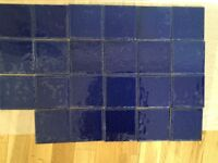 Johnson Blue Ceramic Tiles - unused - Good for small DIY project