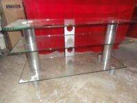Large Glass TV Stand For Sale