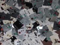 joblot 530+ cards with hoop, stud, dangly earrings, some with 3 pairs on