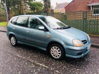 Nissan tino. Mot to 03,05.18. One owner from new