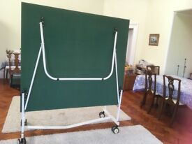 Fold away table tennis table