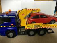Towing truck+ car