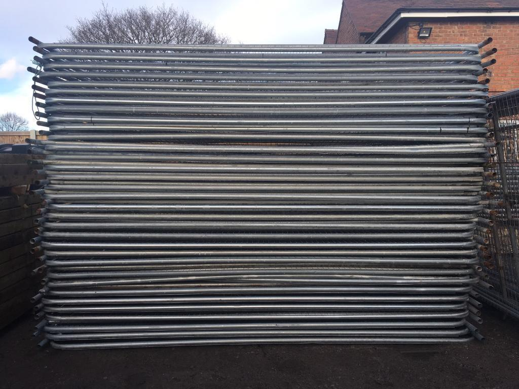 Used heras style temporary metal fence panels site security used heras style temporary metal fence panels site security fencing baanklon Images
