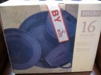 Boxed 16 Piece Dinnerware Set by Bistro (Came from Roys)