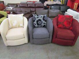 New Tub Chair Sofalogy Arm-chair Fabric Cream Grey Red Sofa Swivel chairs