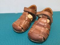 'Ocra' Tan Leather Toddler Sandals - Size 22 - £15