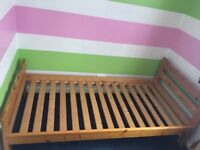 Pair of Solid Pine single bed frames collection from Twyford £70