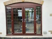 FRENCH PATIO DOUBLE GLAZED DOOR ROSEWOOD