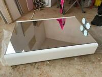 Bathroom mirrored wall hanging cabinet with light and shaver socket