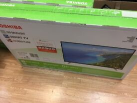 Brand New Toshiba 49L3658 49 Inch Smart Full HD LED TV with Freeview Play x2