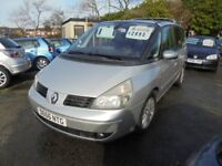RENAULT ESPACE 2188cc DYNAMIQUE DCI TURBO DIESEL AUTOMATIC 7 SEATER MPV 2005 ON PRIVATE PLATE