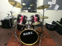 Mapex 5 Piece Drum Kit, Soft Carry Bags and Stands