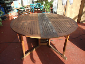 Large Wooden Garden Table