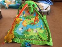Fisher Price Rain forest play mat and cot mobile
