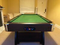 1 Year Old Pool Table 8foot by 4foot Full Sized, With Snooker & Pool Balls