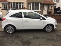 White Vauxhall Corsa (2013) 1.0l Petrol Manual ONLY 33K***