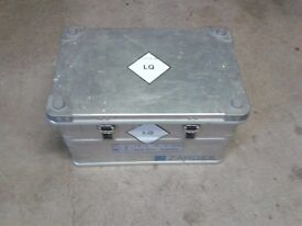 Substantial Aluminium Box designed and used to transport chemical products