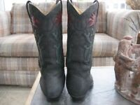 Cowboy boots - Buffalo suede and leather size 5