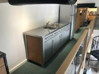2m Stainless steel sink unit. Ex display