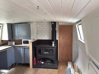 Luxurious double ensuite room in large canal boat ideal for couple 800 pcm all incl