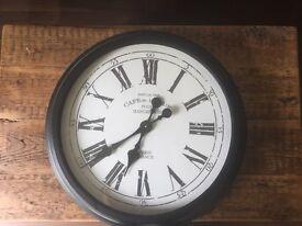 Beautiful large metal clock for sale