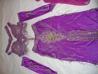 "Belly Dance Professional Costume ""Purple Crystal Sahara"""