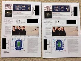 2 X U2 TICKETS TWICKENHAM BEST PLACES!! LOWER TIER WEST STAND 9Th JULY
