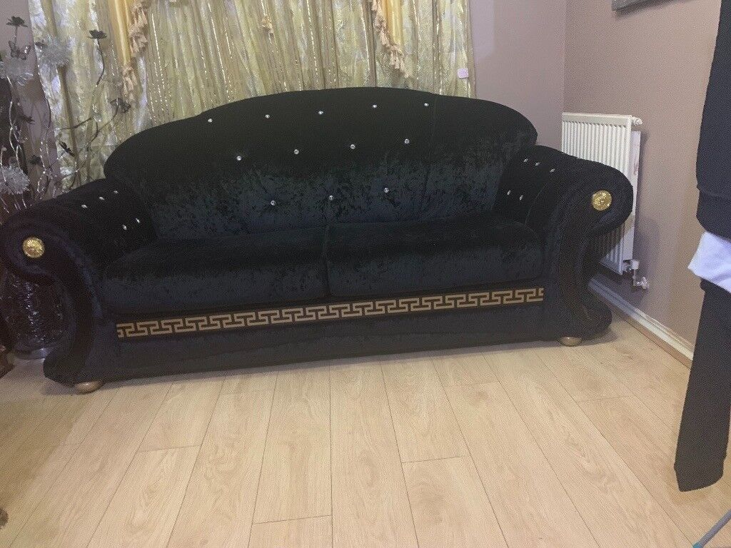 3 2 Seater Versace Sofa In Hamilton Leicestershire Gumtree