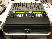 Numark CDN-88 Dual CD Player Behringer VMX1000 Mixer Tractor Audio 4 USB Interface Combination