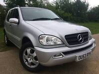 Mercedes Benz M CLASS Petrol Mileage 114000 Year of manufacture 2003 Colour Silver Gearbox Auto