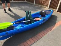 Single hybrid canoe (Madriver) includes paddle and buoyancy aid!